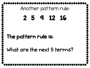Number Patterns and Pattern Rules Lesson Editable Powerpoint