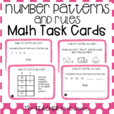 4th Grade Number Patterns and Rules Task Cards | Number Pa