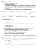 Number Patterns and Sequences (Editable)