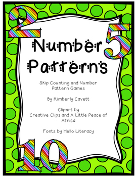 Number Patterns and Skip Counting Games