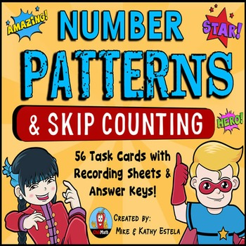 Number Patterns and Skip Counting Task Cards