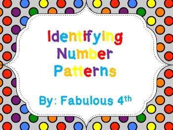 Number Patterns for 3rd Grade