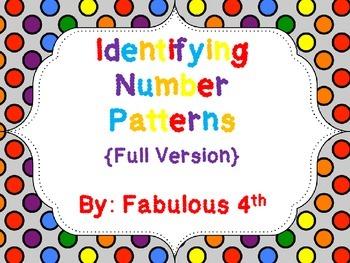 Number Patterns for 3rd Grade {Full Version}