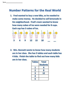 Number Patterns for the Real World