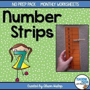 Number Strips for Fine Motor Skills