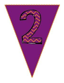 Number Pennants (1-10) Freebie!