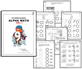 Number People Worksheets - Alpha Math Handouts Vol. 1 by Letter ...