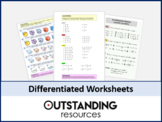 Number: Percentage of Amount WORKSHEET (calculator and non calculator)