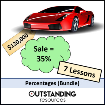 Number: Percentages Bundle (7 - 8 Lessons) + Resources