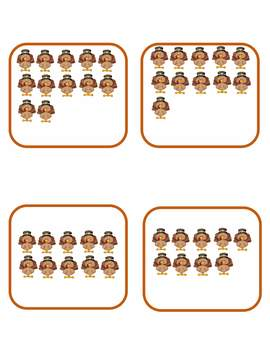 Number Picture Match 1-20 Subitizing Growing Bundle