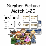 Subitizing Growing Bundle Number Picture Match 1-20