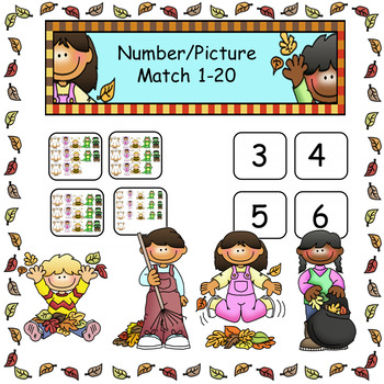 Number Sense Number Picture Match Counting 1-20