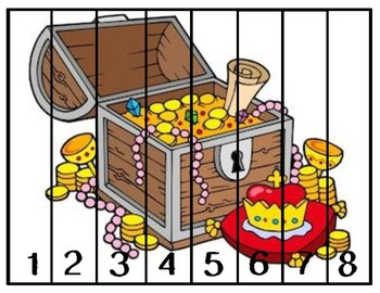 Number Pirate Themed Paper Puzzles
