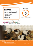 Grade 5 Number & Place Value workbook of 63 pages from Bee