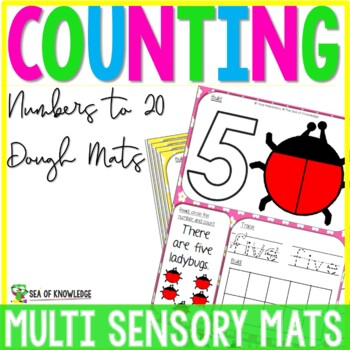 Number Playdough Mats - Multisensory Counting Mats