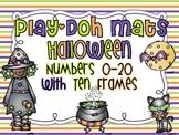 Number Play Doh Mats w/ Ten Frames {Halloween}