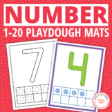 Number Play Dough Mats 0-20