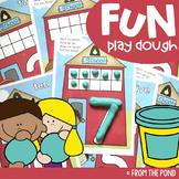Number Play Dough Mats - Back to School Activities