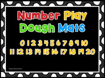 Number Play Dough Mats