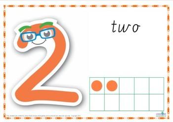 Number Play Dough Mats (Cursive Print)