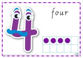 Number Play Dough Mats (Cursive Print)