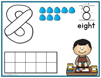 Number Play Dough Mats {Includes Numbers 1 - 20}