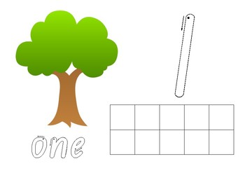 Number Play Dough Mats - Numbers 1-10 Foundation Font