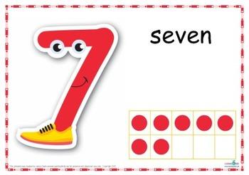Number Play Dough Mats (Standard Print)