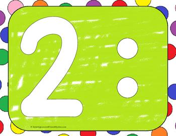 Number Play Dough Mats set 1