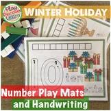 Number Activity Mats and Handwriting   Winter Holiday
