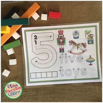 Number Activity Mats and Handwriting | Winter Holiday