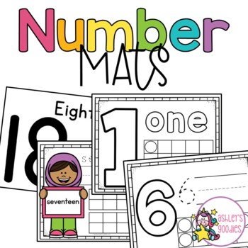 Number 'Play and Write' Playdough Mats