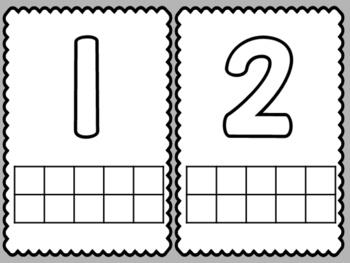 Number Play-doh Mats 1-20
