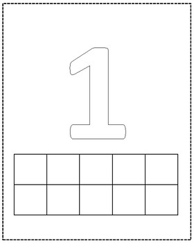 Number Playdoh Mats 1-10
