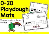 Number Playdough Mats 0-20 Victorian Modern Cursive