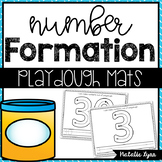 Number Playdough Mats 0-30 with Correct Number Formation