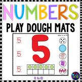 Number Playdough Mats 1-10
