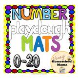 Number Playdough Mats - 0 to 20