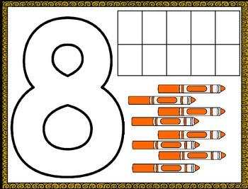 Number Playdoh Mats