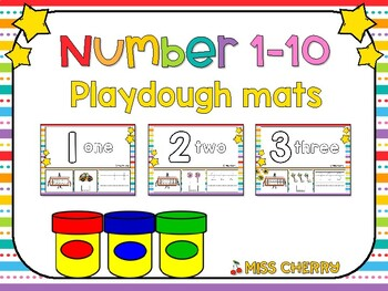 Number Playdough Mats 1 - 10