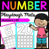 Number Playdough Mats 1-20