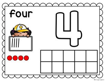 Number Playdough Mats