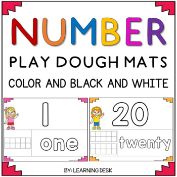 Number Playdough Mats 1 to 20