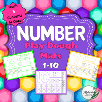Number Playdough Mats from LilyVale Learning