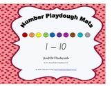 Number Playdough Mats or Flashcards in NSW font 1-10