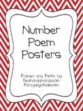 Number Poem Posters 0-9