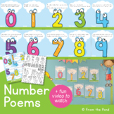 Number Poem Posters - Number Writing