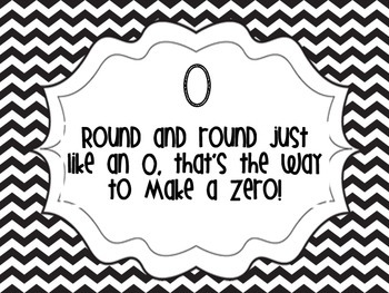 Number Poems Black and White Chevron