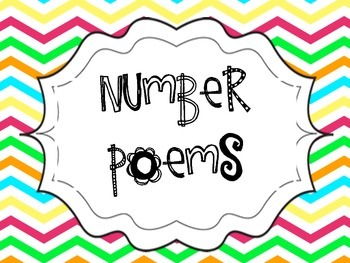 Number Poems Bright Chevron