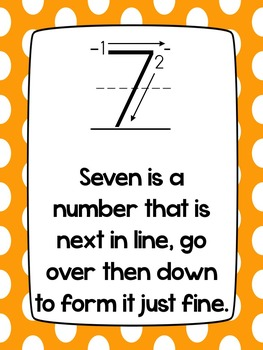 Number Poems~ Neon Colors